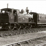 Lancashire and Yorkshire engine with passenger train passing through Haxey Junction (on the line south of Graizelound)