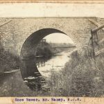 Bridge over Snow Sewer south of Graizelound shortly after completion about 1906