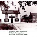 Photo of Carpenters Arms and Bink's Farm Westwoodside about 1920