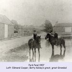 Two horses in Park Pond Westwoodside 1907