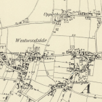 OS map of Westwoodside from about 1880 showing original hamlets